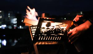 島ノ技巧和柄焚き火台